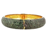 Vintage Bracelets 0 Ct Natural Certified Diamond Emerald 925 Sterling Silver Anniversary