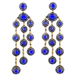Antique Diamond Earrings 4.8 Ct Natural Certified Diamond Sapphire 925 Sterling Silver Wedding