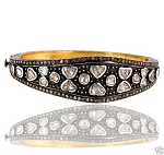 Victorian Bracelet 4.4 Ct Natural Certified Diamond 925 Sterling Silver Jewelry Party