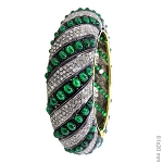 Vintage Bracelets 10 Ct Natural Certified Diamond Emerald 925 Sterling Silver Jewelry Party