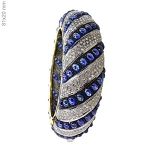 Antique Bracelets 10 Ct Natural Certified Diamond Sapphire 925 Sterling Silver Vacation