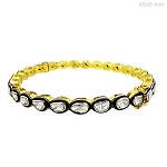 Art Deco Tennis Bracelet 2 Ct Natural Certified Diamond 925 Sterling Silver Jewelry Weekend