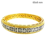 Vintage Bracelets 2.25 Ct Natural Certified Diamond 925 Sterling Silver Party