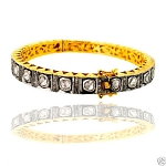 Victorian Bracelet 2.8 Ct Natural Certified Diamond 925 Sterling Silver Jewelry Workwear