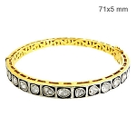 2.1 Ct Natural Diamond 925 Sterling Silver Vintage Jewelry Bracelet
