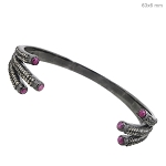 Polki Bracelet 2 Ct Natural Certified Diamond Ruby 925 Sterling Silver Jewelry Vacation