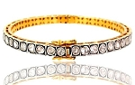 Vintage Tennis Bracelet 2 Ct Natural Certified Diamond 925 Sterling Silver Jewelry Office Wear