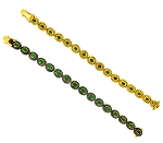 Vintage Bracelets 3.55 Ct Natural Certified Diamond Emerald 925 Sterling Silver Wedding