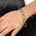 Art Deco Diamond Bracelet 7.5 Ct Natural Certified Diamond 925 Sterling Silver Jewelry Weekend