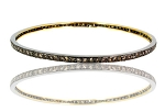 Rose Cut Diamond Bracelet 2 Ct Natural Certified Diamond 925 Sterling Silver Office Wear