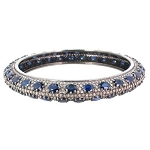 Polki Bracelet 2.6 Ct Natural Certified Diamond Blue Sapphire 925 Sterling Silver Vacation