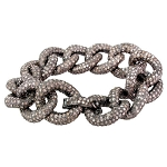 Vintage Diamond Bracelet 15.00 Ct Natural Certified Diamond 925 Sterling Silver Jewelry Vacation