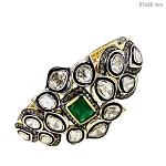 Art Deco Tennis Bracelet 6.5 Ct Natural Certified Diamond Emerald 925 Sterling Silver Office Wear