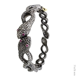 Victorian Bracelet 6.5 Ct Natural Certified Diamond Ruby 925 Sterling Silver Jewelry Anniversary