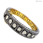 Antique Bracelets 8.5 Ct Natural Certified Diamond 925 Sterling Silver Engagement