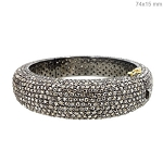 Uncut Diamond Bracelet 26 Ct Natural Certified Diamond 925 Sterling Silver Office Wear
