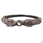 Antique Diamond Tennis Bracelet 3.6 Ct Natural Certified Diamond Ruby 925 Sterling Silver Everyday