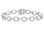 Eternity Bracelets 2.15 Ct Natural Untreated Diamond Solid Gold Natural Certified