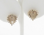 0.65 Ct Ij-Si2 Natural Diamond 14K Gold Wedding Heart Earrings