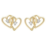 0.20 Ct Hi-Si2 Natural Diamond 14K Gold Wedding Heart Earrings