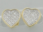 0.65 Ct Natural Diamond 14K Gold Anniversary Heart Earrings