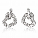 0.30 Ct Hi-Si2 Natural Diamond 14K Gold Wedding Heart Earrings