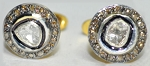 Vintage Diamond Cufflinks 0.75 Ct Natural Certified Diamond 925 Sterling Silver Everyday