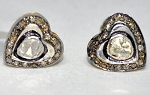 Art Deco Cufflinks 0.56 Ct Natural Certified Diamond 925 Sterling Silver Special Occasion