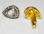 Antique Cufflinks 0.60 Ct Natural Certified Diamond 925 Sterling Silver Wedding