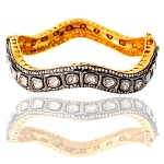 Vintage Bracelets 6.80 Ct Natural Certified Diamond 925 Sterling Silver Engagement
