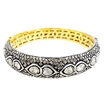 Antique Bracelets 11.75 Ct Natural Certified Diamond 925 Sterling Silver Festive