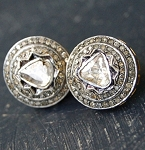 Antique Diamond Earrings 2.00 Ct Natural Certified Diamond 925 Sterling Silver Weekend