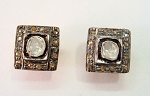 Victorian Earrings 0.40 Ct Natural Certified Diamond 925 Sterling Silver Wedding