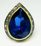 Vintage Engagement Rings For Sale 2.90 Ct Natural Certified Diamond Blue Sapphire 925 Sterling Silver Everyday