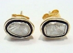 Uncut Earrings 0.50 Ct Natural Certified Diamond 925 Sterling Silver Vacation