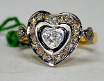 Antique Looking Wedding Rings 0.46 Ct Natural Certified Diamond 925 Sterling Silver Everyday