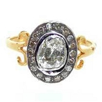 Uncut Ring 0.70 Ct Natural Certified Diamond 925 Sterling Silver Wedding