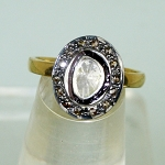 Vintage Diamond Engagement Rings 0.46 Ct Natural Certified Diamond 925 Sterling Silver Everyday