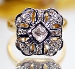 Vintage Art Deco Engagement Rings 0.73 Ct Natural Certified Diamond 925 Sterling Silver Anniversary