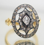 Antique Wedding Ring 0.71 Ct Natural Certified Diamond 925 Sterling Silver Engagement