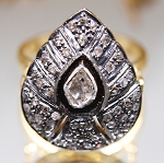 Vintage Diamond Wedding Rings 1.15 Ct Natural Certified Diamond 925 Sterling Silver Party