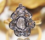 Vintage Style Diamond Rings 0.50 Ct Natural Certified Diamond 925 Sterling Silver Engagement