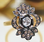 Victorian Antique Engagement Rings 0.58 Ct Natural Certified Diamond 925 Sterling Silver Weekend