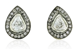 Victorian Earrings 1.50 Ct Natural Certified Diamond 925 Sterling Silver Anniversary