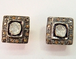 Vintage Diamond Earrings 0.40 Ct Natural Certified Diamond 925 Sterling Silver Festive