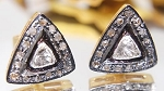 Art Deco Earrings 0.60 Ct Natural Certified Diamond 925 Sterling Silver Party