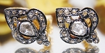 Victorian Diamond Earrings 0.70 Ct Natural Certified Diamond 925 Sterling Silver Vacation