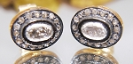 Uncut Earrings 0.82 Ct Natural Certified Diamond 925 Sterling Silver Anniversary