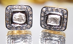 Victorian Earrings 0.70 Ct Natural Certified Diamond 925 Sterling Silver Engagement