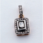Victorian Diamond Pendant 0.66 Ct Natural Certified Diamond 925 Sterling Silver Special Occasion